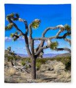 Joshua Tree National Park Winter's Day Fleece Blanket