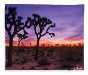 Joshua Tree Pastel Colors Fleece Blanket