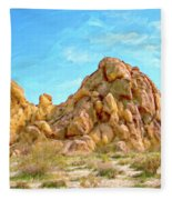 Joshua Tree Rocks Fleece Blanket