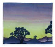 Joshua Tree Sunset Fleece Blanket