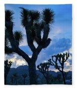 Joshua Tree Sunset Skies Fleece Blanket