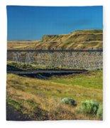 Joso High Bridge Over The Snake River Wa 1x2 Ratio Dsc043632415 Fleece Blanket