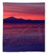 Journey In A Purple Dreamland Fleece Blanket