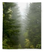 Journey Through The Fog Fleece Blanket