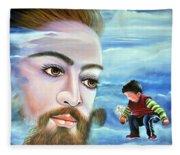 Journey With Jesus Fleece Blanket