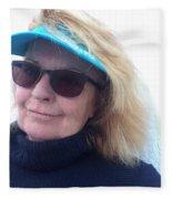 Joy On Paros Island Greece  Fleece Blanket