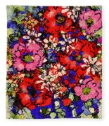 Joyful Flowers Fleece Blanket