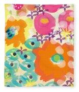 Joyful Garden Fleece Blanket