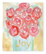 Joyful Roses- Art By Linda Woods Fleece Blanket