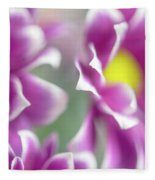 Joyful Sisters. Gentle Floral Macro Fleece Blanket