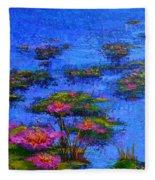 Joyful State - Modern Impressionistic Art - Palette Knife Landscape Painting Fleece Blanket