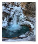 Johnston Canyon Winter Delight Fleece Blanket