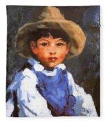 Juan Also Known As Jose No 2 Mexican Boy 1916 Fleece Blanket