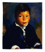 Juanita Also Known As Little Half Breed 1917 Fleece Blanket