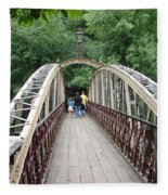 Jubilee Bridge - Matlock Bath Fleece Blanket