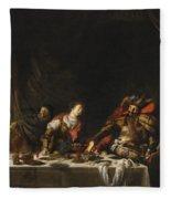 Judith And Holofernes Fleece Blanket