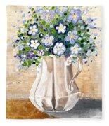 Jug Bouquet Fleece Blanket