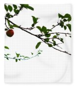 Juicy   A Tempting Photograph Of A Tasty Ripe Red Apple On A Tree  Fleece Blanket