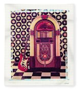 Juke Box Polaroid Transfer Fleece Blanket