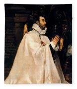 Julian Romero De Las Azanas And His Patron St Julian Fleece Blanket