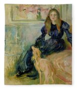 Julie Manet And Her Greyhound Laerte Fleece Blanket