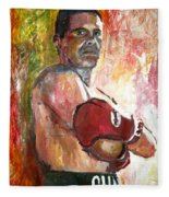 Julio Cesar Chavez Fleece Blanket
