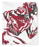 Julio Jones Atlanta Falcons Pixel Art 11 Fleece Blanket