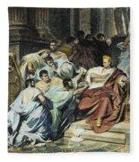 Julius Caesar (100-44 B.c.) Fleece Blanket