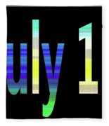 July 11 Fleece Blanket