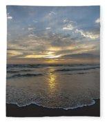 July 2015 Sunset Part 1 Fleece Blanket