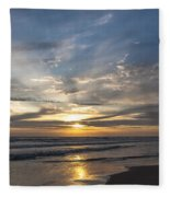 July 2015 Sunset Part 3 Fleece Blanket