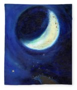 July Moon Fleece Blanket