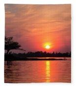 July Sunset At Detroit Point Fleece Blanket