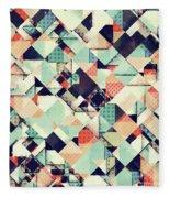Jumble Of Colors And Texture Fleece Blanket