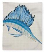 Jumping Swordfish  Fleece Blanket