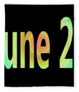 June 27 Fleece Blanket