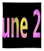 June 28 Fleece Blanket