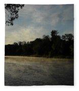 June Mississippi River Misty Dawn Fleece Blanket