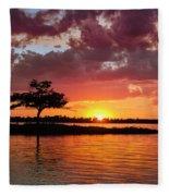 June Sunset At Detroit Point Fleece Blanket