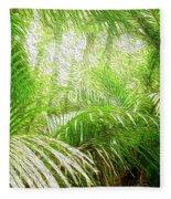 Jungle Abstract 1 Fleece Blanket