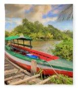 Jungle Boat Fleece Blanket