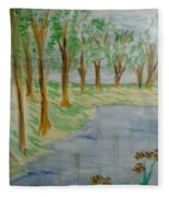Jungle-brookside Fleece Blanket