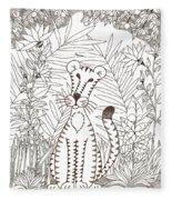 Jungle Cat Fleece Blanket