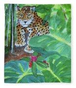 Jungle Jaguar Fleece Blanket
