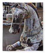 Junkyard Horse Fleece Blanket