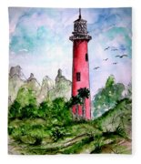 Jupiter Florida Lighthouse Fleece Blanket