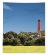 Jupiter Inlet Lighthouse Fleece Blanket
