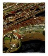 Jupiter Saxophone Fleece Blanket
