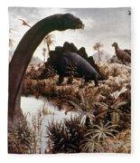 Jurassic Swamp Fleece Blanket