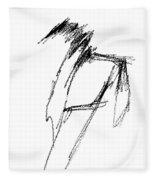 Just A Horse Sketch Fleece Blanket